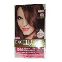 L'Oreal Excellence Creme Triple Protection Hair Color, Light Reddish Brown (Warmer) [6RB] 1 Each -  L'Oreal Paris, U-HC-4314