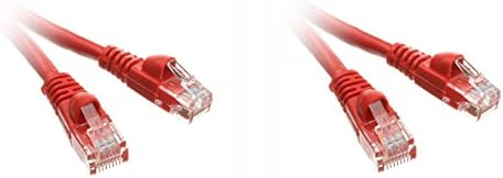 35-Foot Offex Cat5e Ethernet Patch Cable OF-10X6-07135 clickhere2shop Red Snagless//Molded Boot