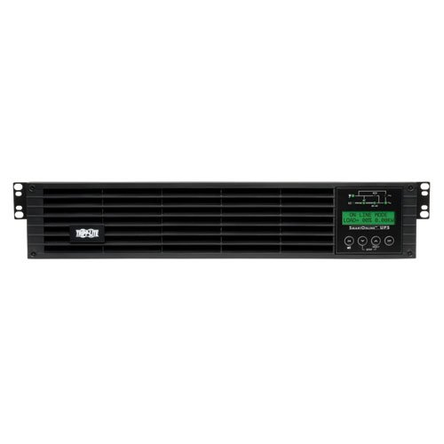 Tripp Lite 1500VA Smart Online UPS Back Up, 1300W Double-Conversion, Extended Run Option, 2U Rackmount, LCD, USB, DB9, 2 Year Warranty & $250,000 Insurance (SU1500RTXLCD2U)