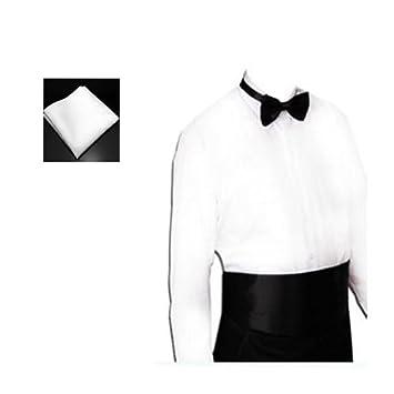 Amazon.com: Elife negro fajín, pajarita y blanco bolsillo ...