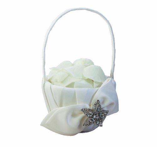 Ivy Lane Design Eva Collection Flower Girl Basket, White