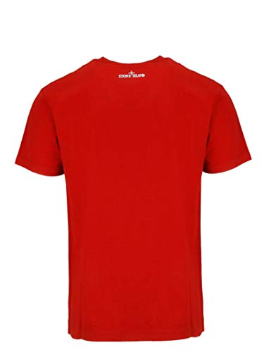 Homme Stone Island 70152ns87v0015 Rouge Coton T shirt lKF1JcT