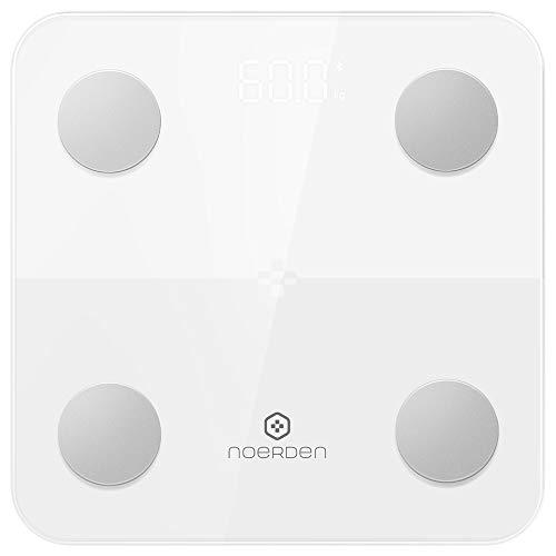 [ノエルデン] NOERDEN MINIMI Smart Body Scale 体組成計 Bluetooth スマホ連動 9種類データ 体重 体脂肪 基礎代謝 代謝年齢など グラフ表示 人数制限無し【日本正規代理店商品】 (ホワイト)