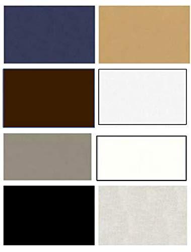 Sashiko Fabric - Cotton-Linen - 8 Color Fat Quarter Sampler Pack - The Basics ()