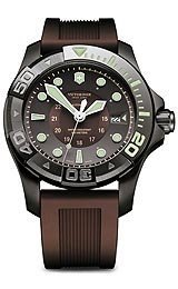 Victorinox Swiss Army Dive Master 500 Brown Dial Brown Rubber Mens Watch 241562 by Victorinox