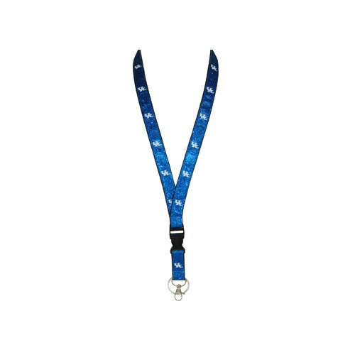 Wildcats Glitter (NCAA Kentucky Wildcats Lanyard Glitter Keychain, One Size, Multicolor)