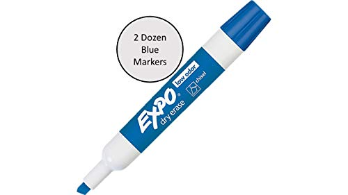 Expo Low Odor Dry Erase Markers Assorted Black, Blue, Green, Red - 2 Dozen of Each Color, 96 Markers Total by SAN (Image #2)