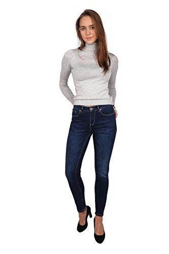 Femme Skinny Pild Fonc Rogen LB015K Blue Jean EtPxTnwtq7