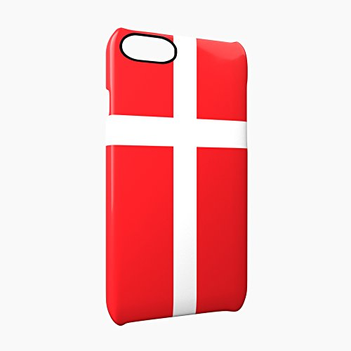 Flag of Denmark Glossy Hard Snap-On Protective iPhone 7 Plus + Case Cover