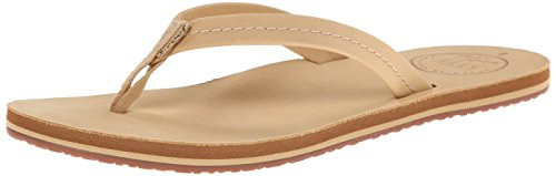Reef Women's Chill Leather Flip Flop, Tan, 8 M US