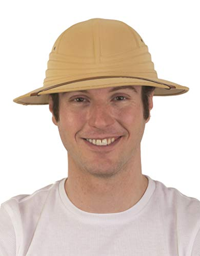 28467 Pith Safari Helmet w Sweatband African Hunter New 7 1/2 60-61cm Tan