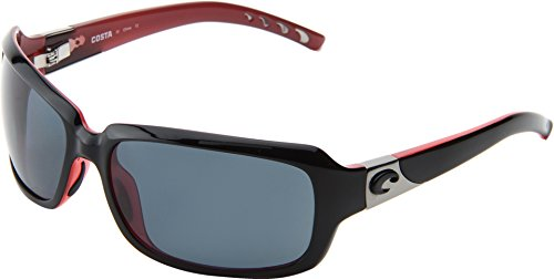 Costa Del Mar Isabela Polarized Sunglasses, Black Coral, Gray - Costa Florida Del Mar