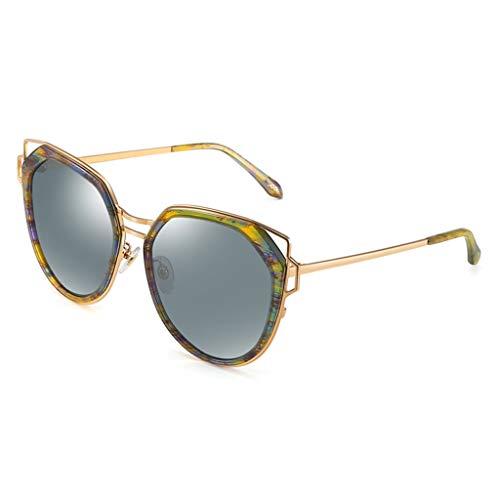 C Lens Soleil soleil B Sport Femme Nylon Metal Femme de Eye de lunettes Couleur Lunettes Cat's pour Des Metal polarisées qExUaSwI