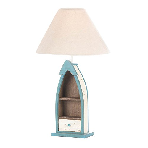 Table Lamp Light, Wooden Boat Home Office Desk Lamp Bedroom For Small Table (Tools Wooden Boat)