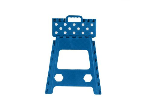 Folding Step Stool 15 Inch With Anti Slip Dots Blue By