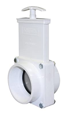 "Valterra 4307 PVC Gate Valve, White, 3"" FPT by Valterra Products"
