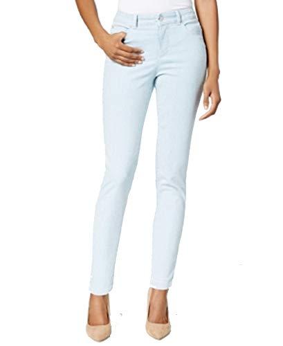 (Charter Club Tummy-Slimming Striped Cropped Skinny Jeans (Railroad Stripe,)
