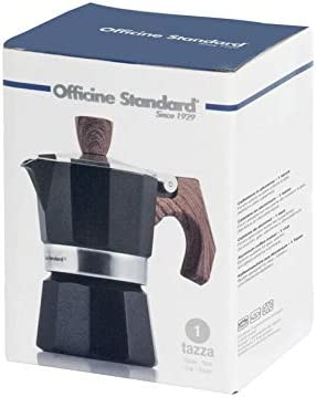 Officine Standard 602567 - Cafetera de aluminio, mango efecto ...