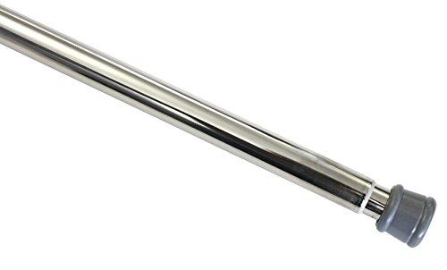 Gardinia 3554 Spannstange 23/26 mm, Metall, ausdrehbar 80-130 cm, vielseitig einsetzbar, ohne Schrauben und Bohren, nickel - optik