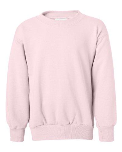 (Hanes Youth ComfortBlend EcoSmart Crewneck Sweatshirt, Pale Pink, M)
