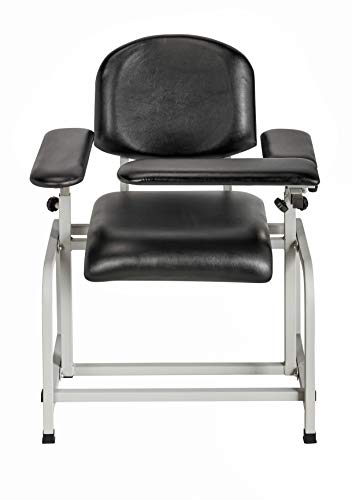 AdirMed Padded Blood Drawing Chair (Black), used for sale  Delivered anywhere in USA