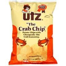 UTZ The Crab Chip Potato Chip Family Size 4 pack (10.5 oz each) - Crab Puff