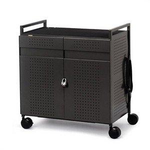 Bretford Basics Micro Computer Netbook Storage Cart NETBOOK32 - Notebook Storage Cart - black