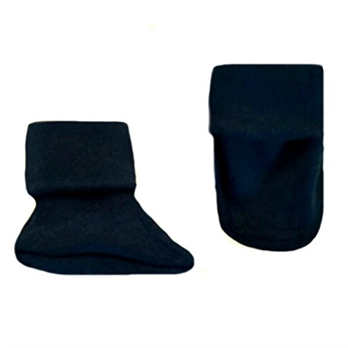 (Jacqui's Unisex Baby Cotton Knit Booties - Lots of Colors! Preemie, Black)