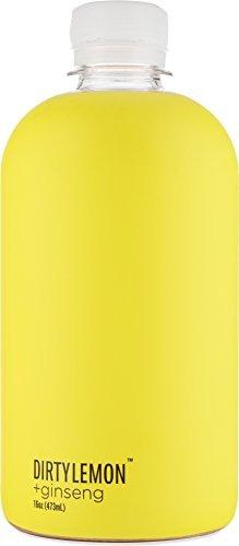 DIRTY LEMON +ginseng Natural All-Day Energy Drink, 16 oz Bottles, (1 Case of 6 Bottles)