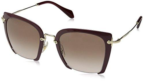 - Miu Miu MU52RS UA50A6 Dark Purple MU52RS Square Sunglasses Lens Category 2 Size