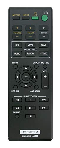 VINABTY New RM-ANP109 Replaced Remote fit for Sony Audio Vidio System HT-CT260 SA-CT260 HT-CT260C HT-CT260H HT-CT260HP SA-CT260H SA-WCT260H RM-ANP084 HT-CT260 HT-CT260W Home Theater Sound RM-ANP084