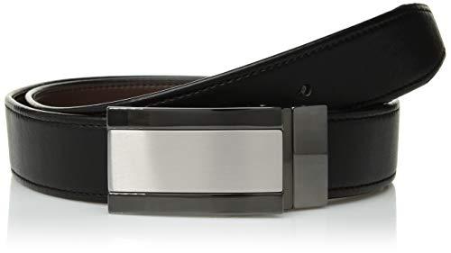 Van Heusen Men's Flex Reversible Plaque Dress Belt, black, X-Large