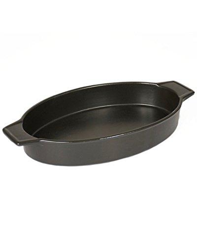 (Charcoal Companion CC3812 Flame-Friendly Ceramic Casserole Pan, 14.8