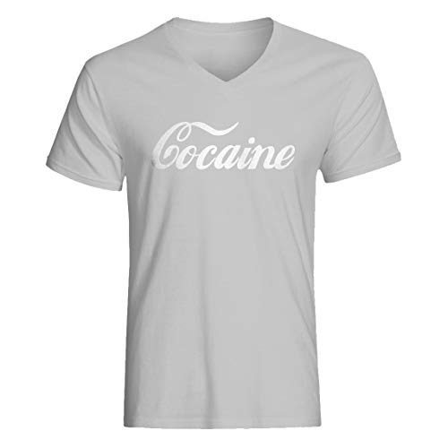 Indica Plateau Vneck Cocaine Large Heather Grey T-Shirt