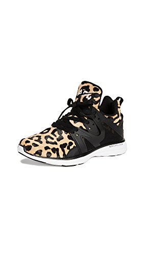 APL: Athletic Propulsion Labs Women's Ascend Sneakers, Leopard/Black/White, 8 B(M) US