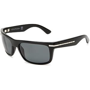 Kaenon Men's Burnet Polarized Rectangular Sunglasses, Black, 38 mm