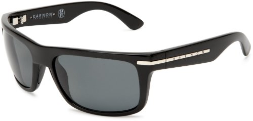 Kaenon Men's Burnet Polarized Rectangular Sunglasses, Black, 38 mm