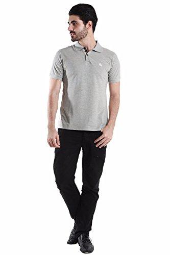 Burberry+Brit+Men%27s+Gray+Check+Cotton+Pique+Logo+Slim+Fit+Polo+T-shirt+%28M%29