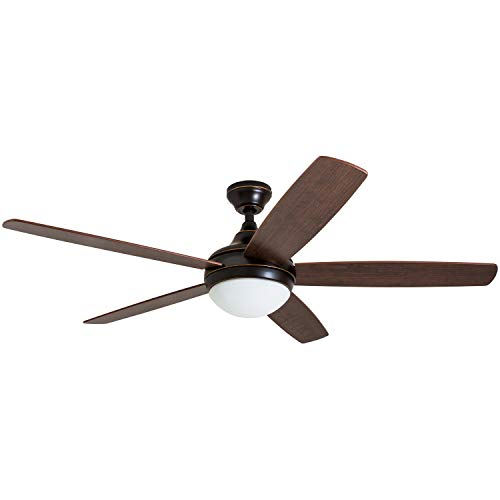 Outdoor 48 Inch Rubbed Bronze 2 Light Ceiling Fan in US - 5