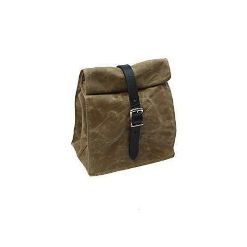 Lunch Tote - Waxed Canvas - Field Tan - Made in USA -