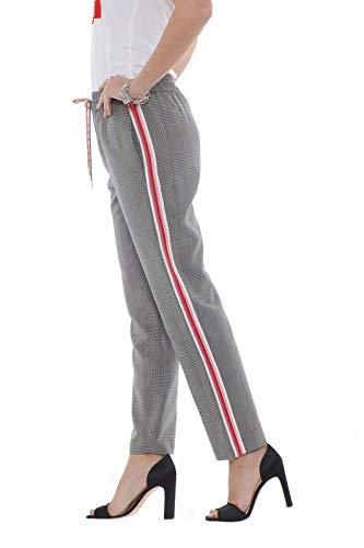 Check Bande Moon Con Laterali Donna Pantaloni Galles Di Patrizia Principe Pepe wTAqT4v