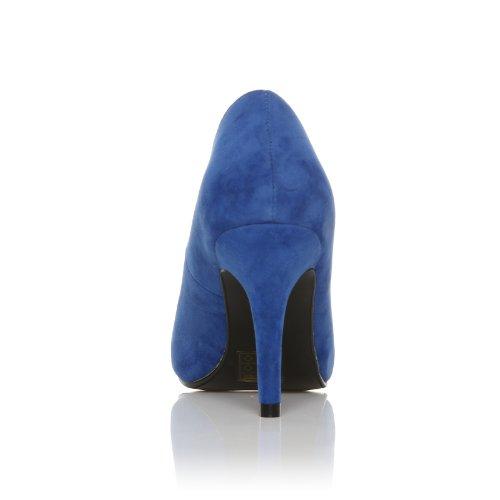 blu Scarpe scamosciato Elettrico finto con stiletto da tacco colore alto donna elettrico Blu PEARL Scamosciato qdH8Cq