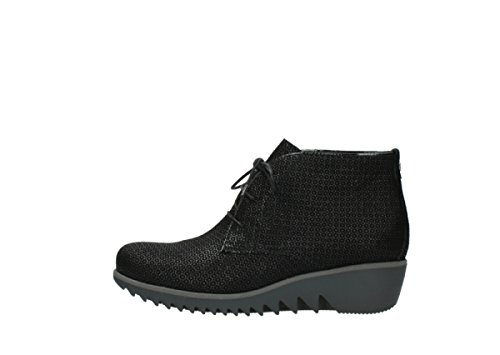 Wolky Womens Dusky Winter Leather Boots Black zse1c
