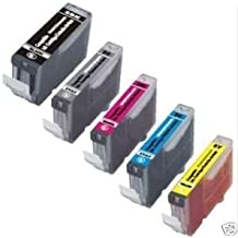 5 Photosharp Compatible print ink toner cartridge replacement for Cannon PGI22O BK, CLi22l BK/C/M/Y) used for Canon PIXMA iP-3600/4600/4700 MP-560/620/620B/640 MX-860/870 all-in-one inkjet printer