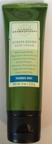 Aromatherapy Tranquil Mint (Aromatherapy Stress Relief Foot Cream Tranquil Mint 4 Oz)