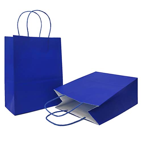 (AZOWA Gift Bags Large Kraft Paper Bags with Handles (9.8 x 7.5 x 3.9 in, Royal Blue, 24 Pcs))