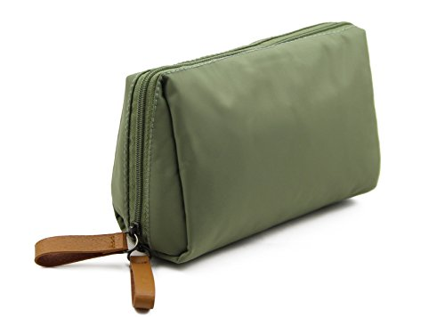 Admirable Idea Womens Travel Cosmetic Bags Small Essential Oil Carrying Bag Makeup Pouch for Ladies Girls - pea green