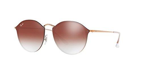 Ray-Ban Metal Unsiex Non-Polarized Iridium Square Sunglasses, Copper, 58 - Clubmaster Blaze Collection