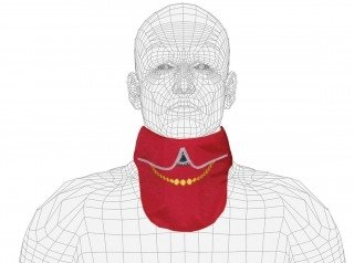 Lightweight Lead X-Ray Thyroid Collar, Necklace Design, 0.5mm Pb