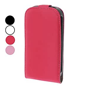 PEACH ships in 48 hours PU Leather Full Body Case for Samsung Galaxy S3 mini I8190 (Assorted Colors) , Pink